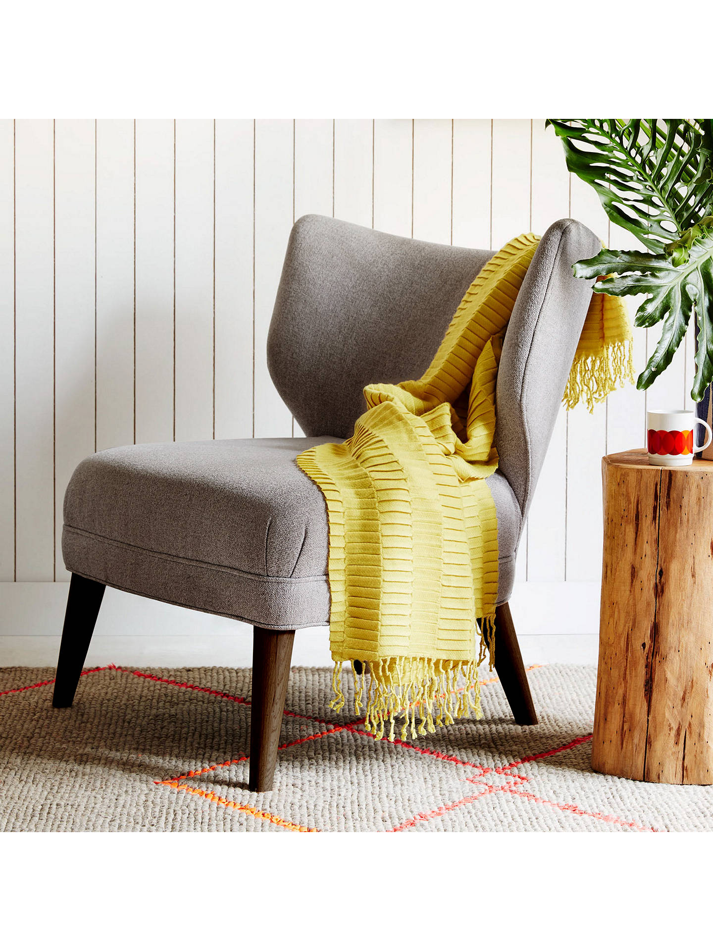 ... Buywest Elm Retro Wing Chair, Retro Weave Grey Online At Johnlewis.com  ...
