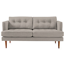 Buy west elm Peggy 2 Seater Sofa, Linen Weave Platinum Online at johnlewis.com