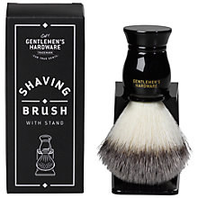 Buy Gentlemen's Hardware Shaving Brush and Stand Online at johnlewis.com