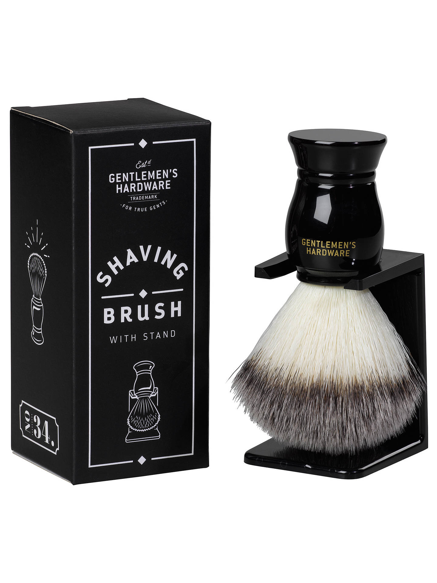 BuyGentlemen's Hardware Shaving Brush and Stand Online at johnlewis.com