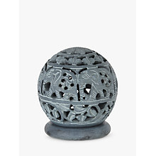 Buy John Lewis Fusion Elephant Stone Tealight Holder Online at johnlewis.com