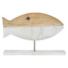 Buy John Lewis Coastal Marble and Wood Fish On Stick Online at johnlewis.com