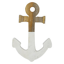 Buy John Lewis Coastal Marble and Wood Anchor Online at johnlewis.com