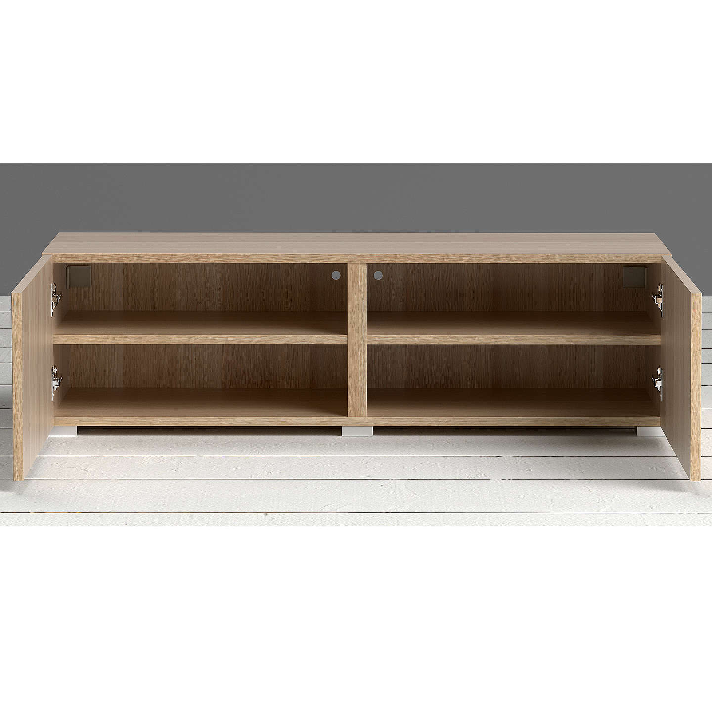 BuyHouse by John Lewis Match Low wide Shelf Unit Oak & Oak Doors Online at johnlewis.com