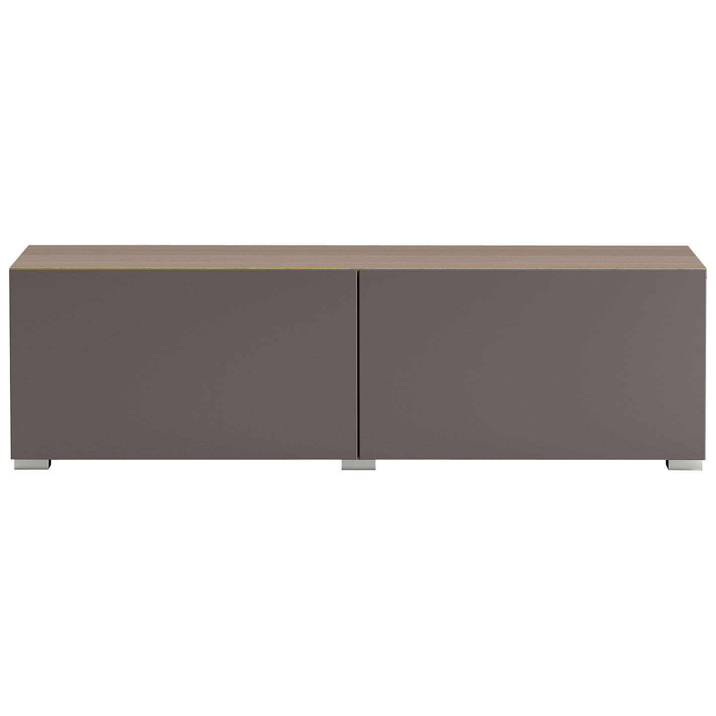 BuyHouse by John Lewis Match Low wide Shelf Unit Oak & Matt Mocha Doors Online at johnlewis.com