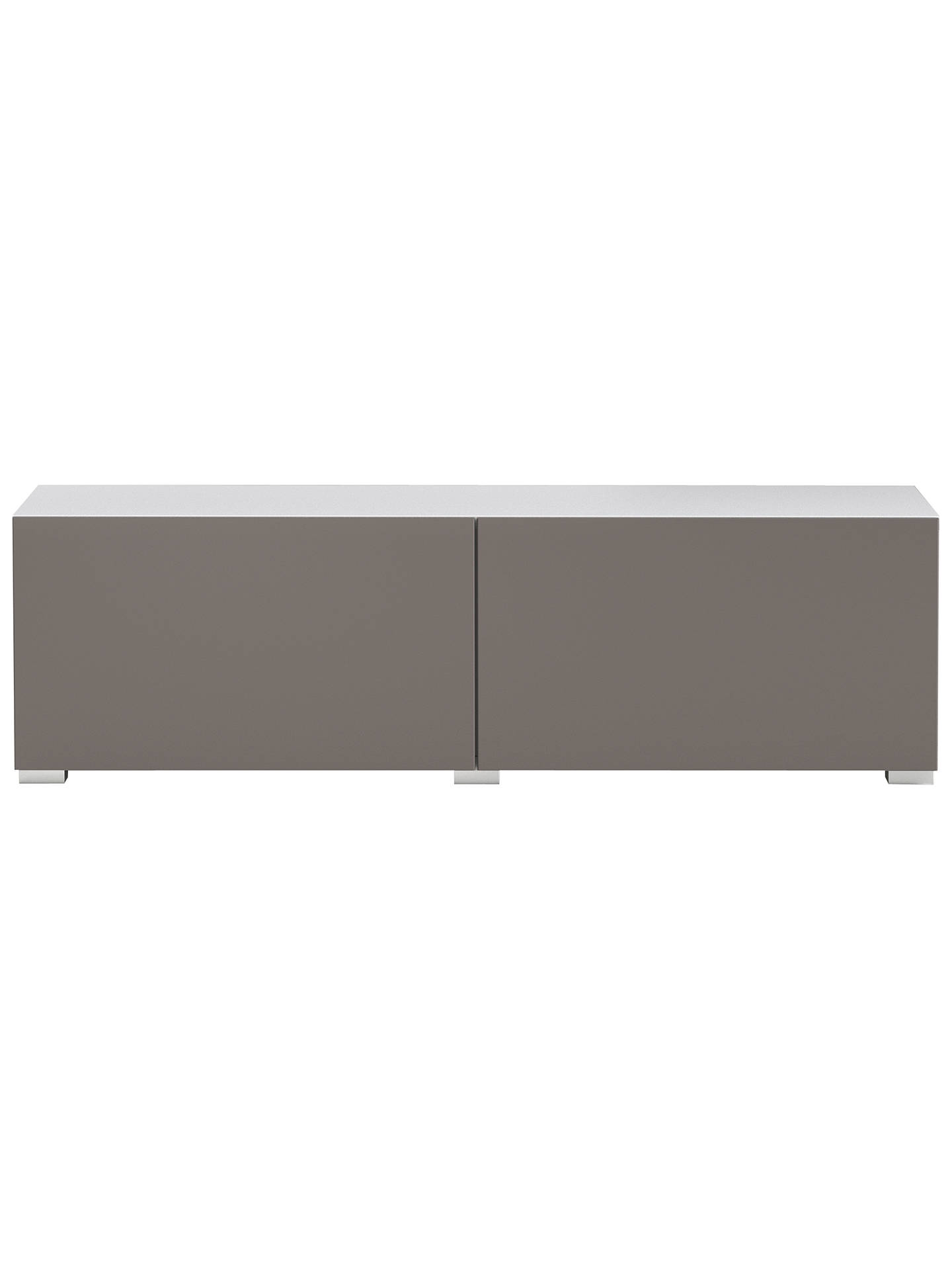 BuyHouse by John Lewis Match Low wide Shelf Unit White & Matt Mocha Doors Online at johnlewis.com
