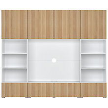 Buy House by John Lewis Mix it Large entertainment unit - White frame / Oak doors / White panel Online at johnlewis.com