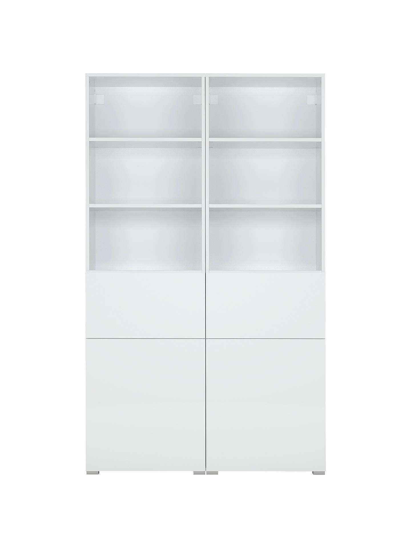 BuyHouse by John Lewis Mix it Double White unit - White frame / door (2 Mid, 2 Low) Online at johnlewis.com