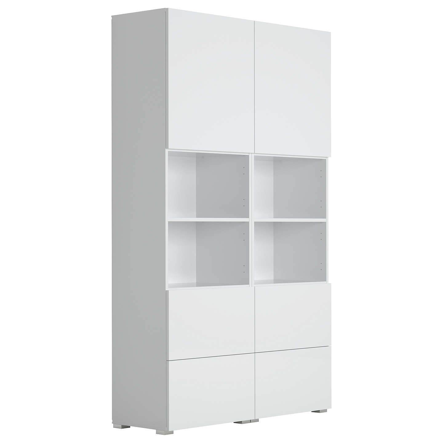 BuyHouse by John Lewis Mix it Double White unit - White frame / door (2 Mid, 4 Low) Online at johnlewis.com