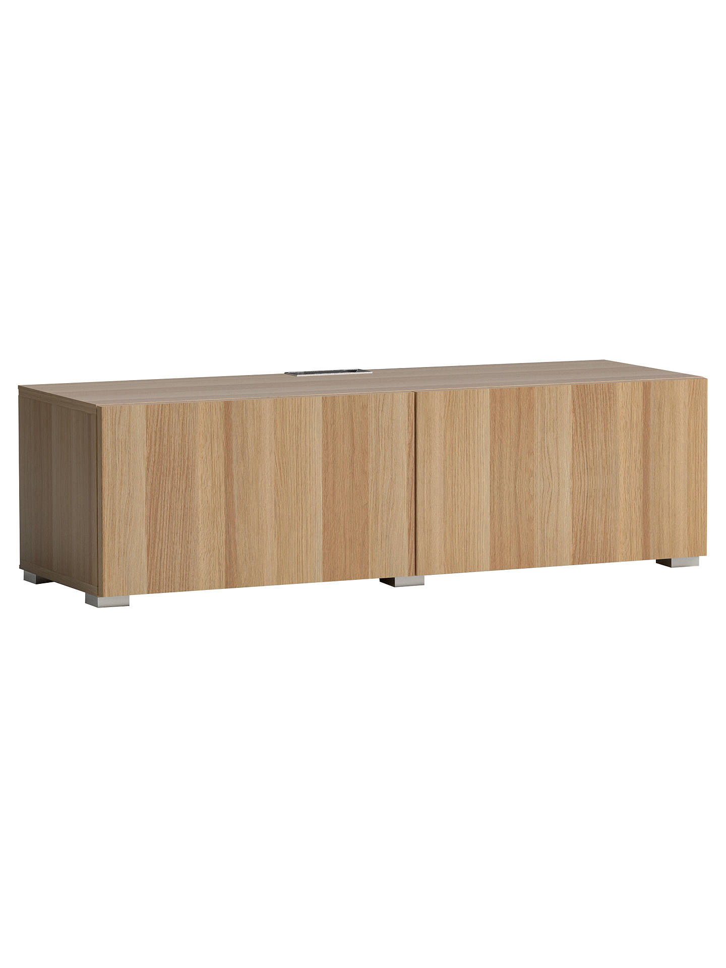 BuyHouse by John Lewis Mix it Media Unit - Oak frame / Oak doors Online at johnlewis.com