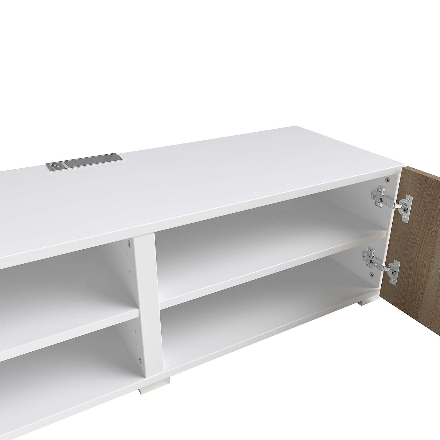 BuyHouse by John Lewis Mix it Media Unit - White frame / Oak doors Online at johnlewis.com