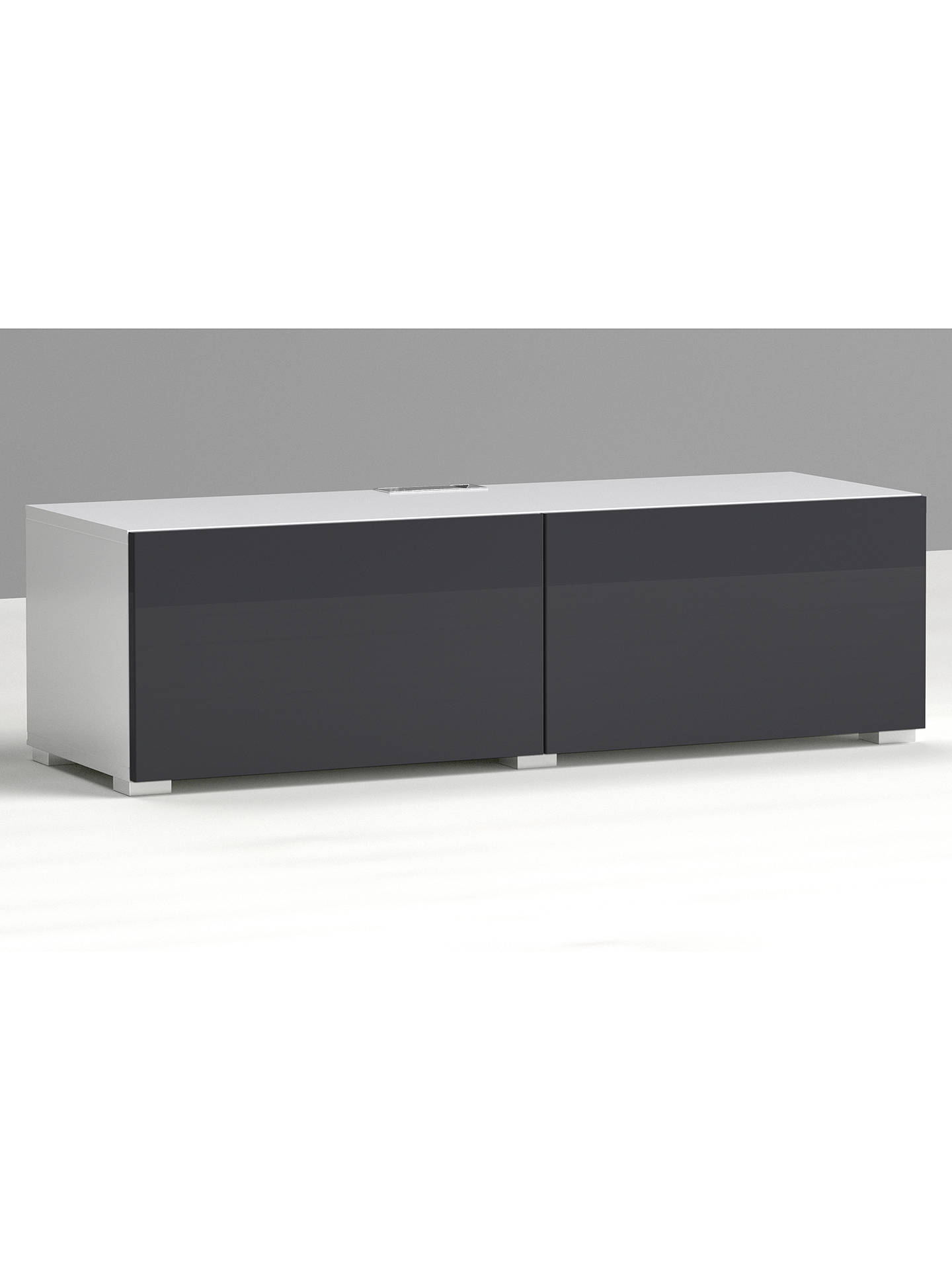 BuyHouse by John Lewis Mix it Media Unit - White frame / Gloss steel doors Online at johnlewis.com