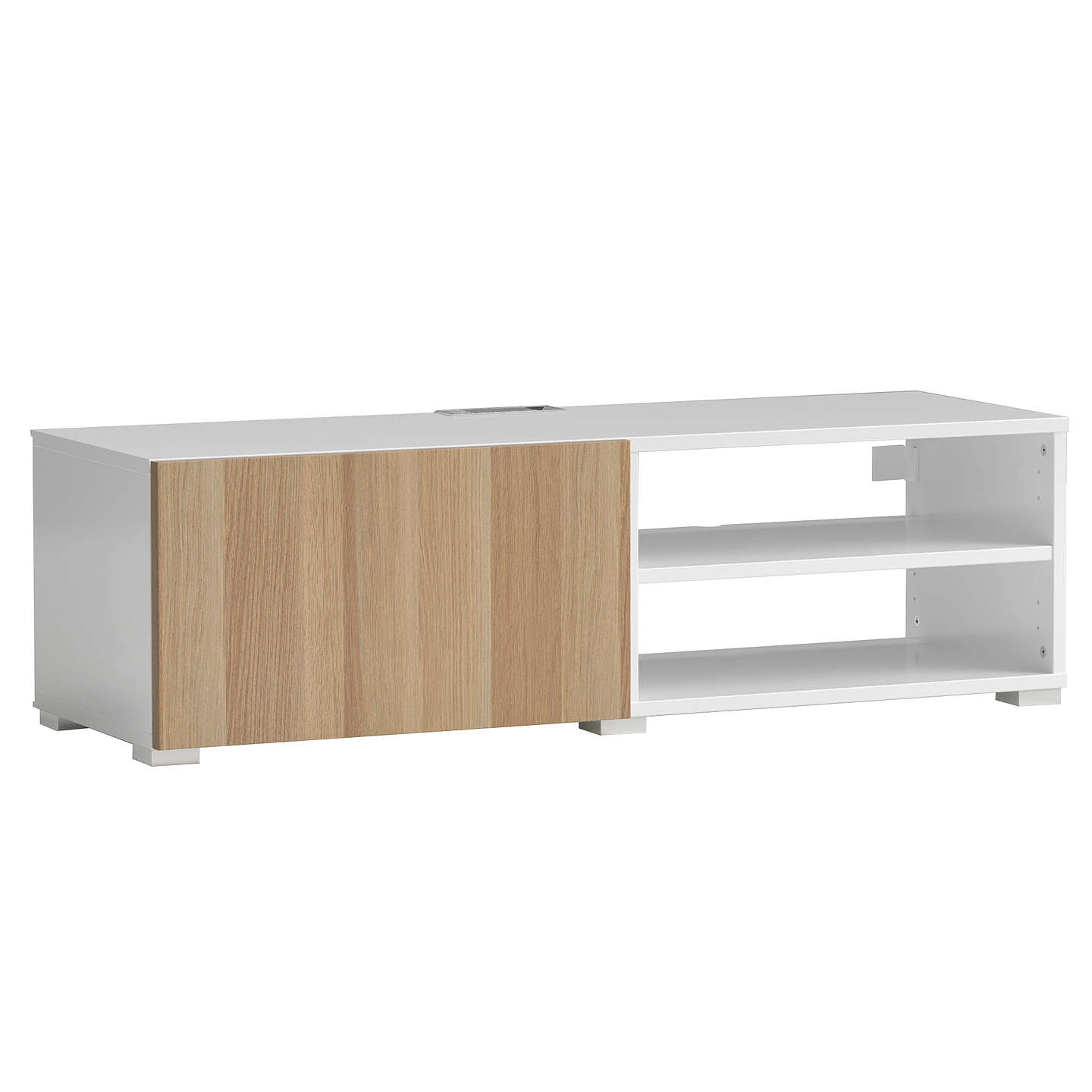 BuyHouse by John Lewis Mix it Media Unit - White frame / Oak door Online at johnlewis.com