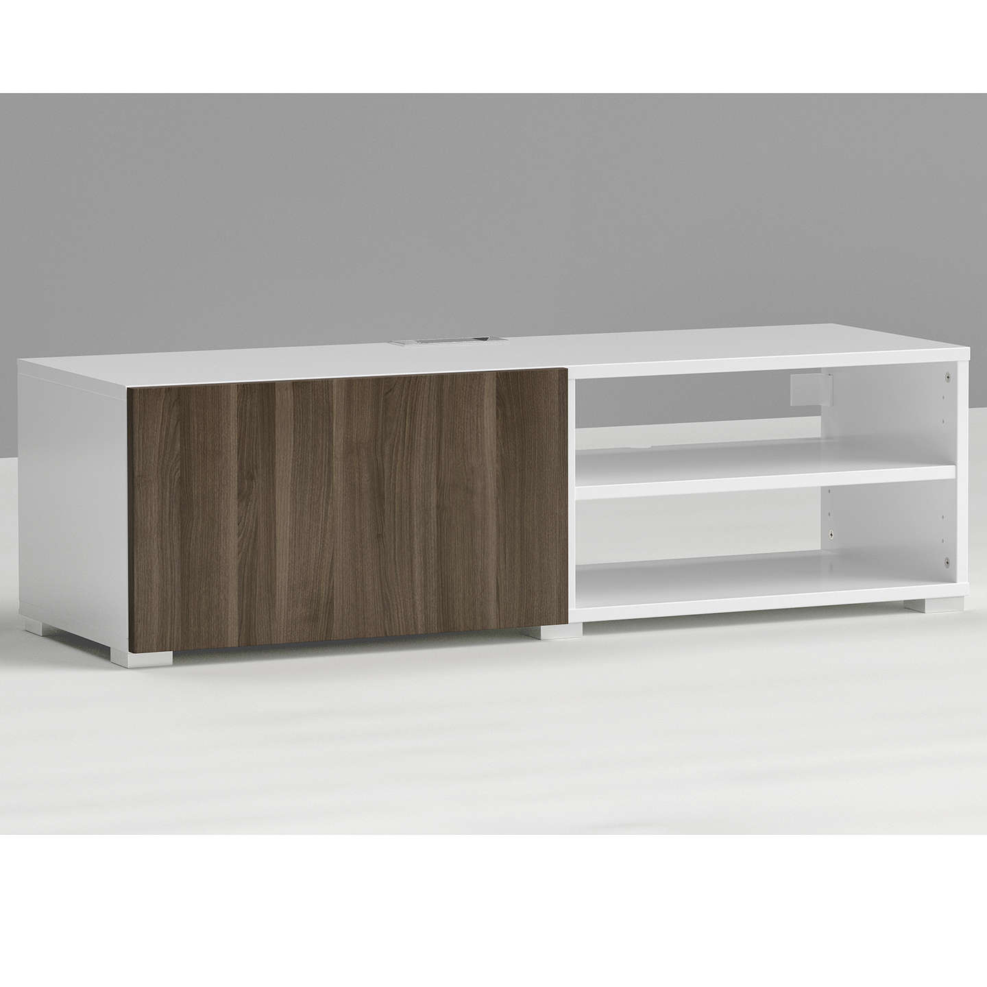 BuyHouse by John Lewis Mix it Media Unit - White frame / Grey ash doors steel door Online at johnlewis.com