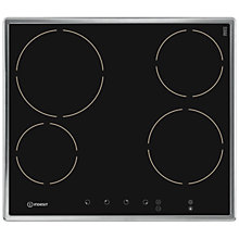 Buy Indesit VRB640X Integrated Ceramic Hob, Black / Stainless Steel Online at johnlewis.com