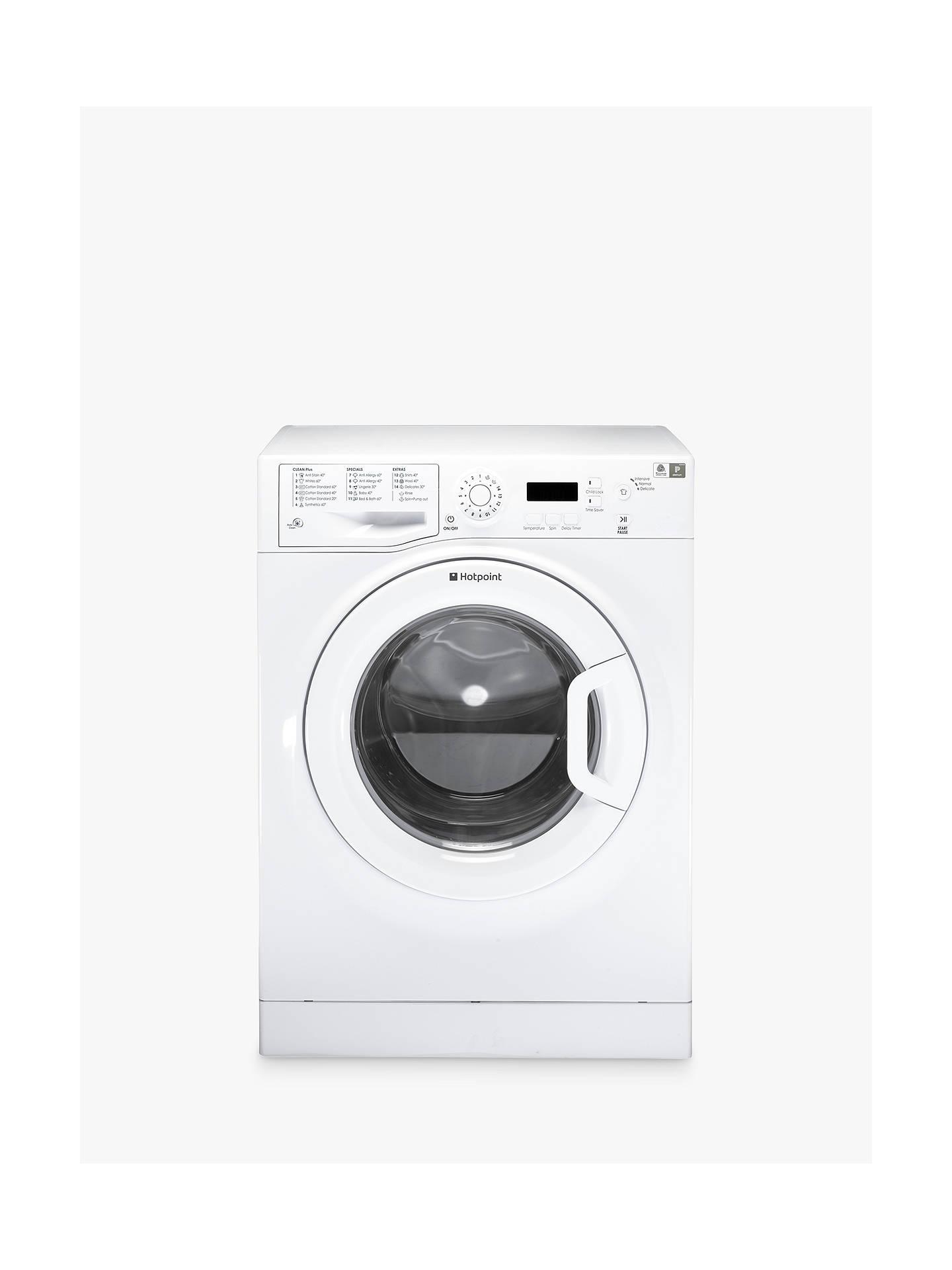 BuyHotpoint Aquarius WMAQF721P Washing Machine, White Online at  johnlewis.com ...