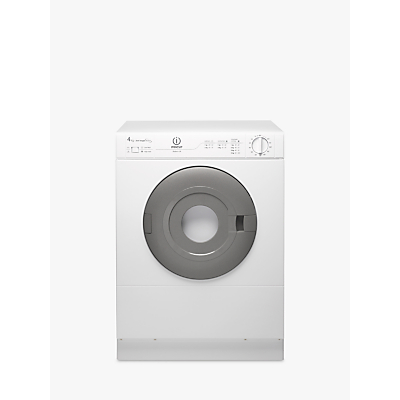Indesit IS41V Vented Compact Tumble Dryer, 4kg Load, White