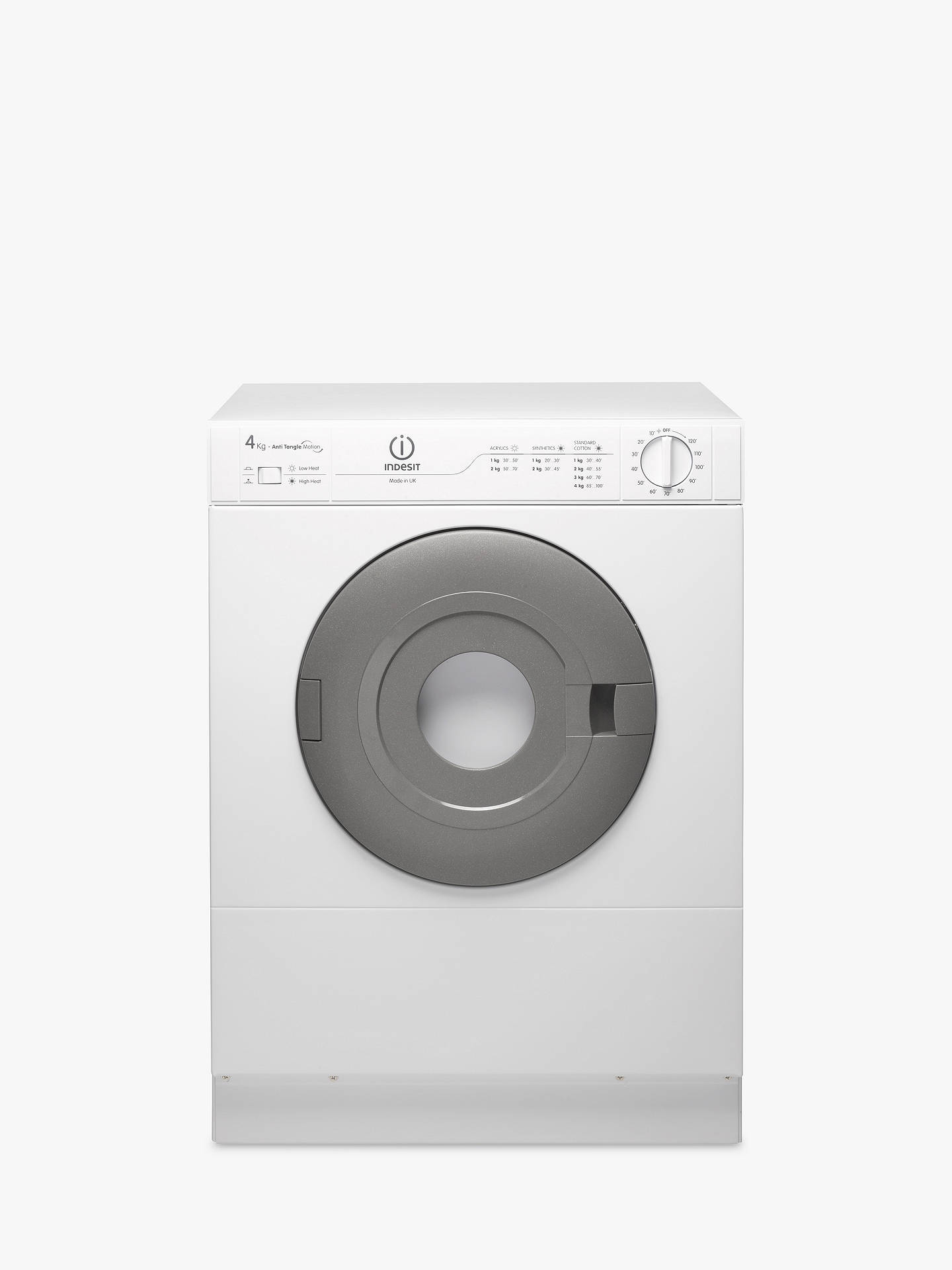 Indesit Is41v Vented Compact Tumble Dryer 4kg Load White At John