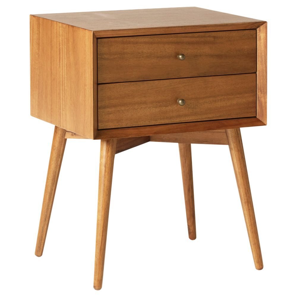 Picture of: West Elm Mid Century Bedside Table Fsc Certified Eucalyptus At John Lewis Partners