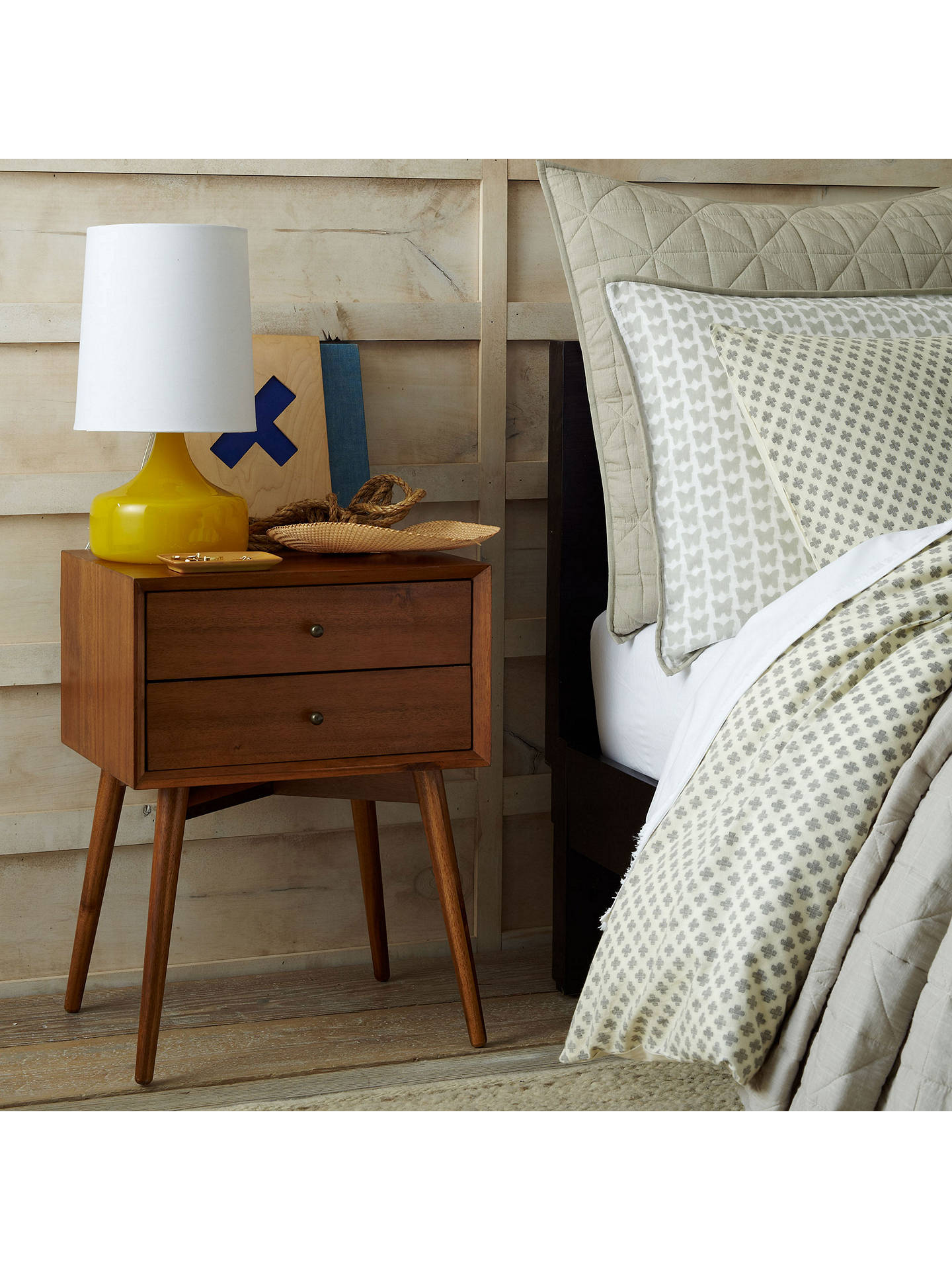 West Elm Mid Century Bedside Table Acorn Online At Johnlewis