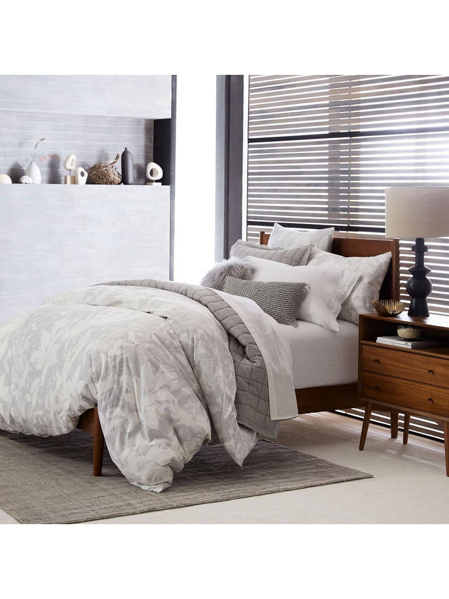 Buy west elm Mid-Century Bed Frame, Double, Acorn Online at johnlewis.com