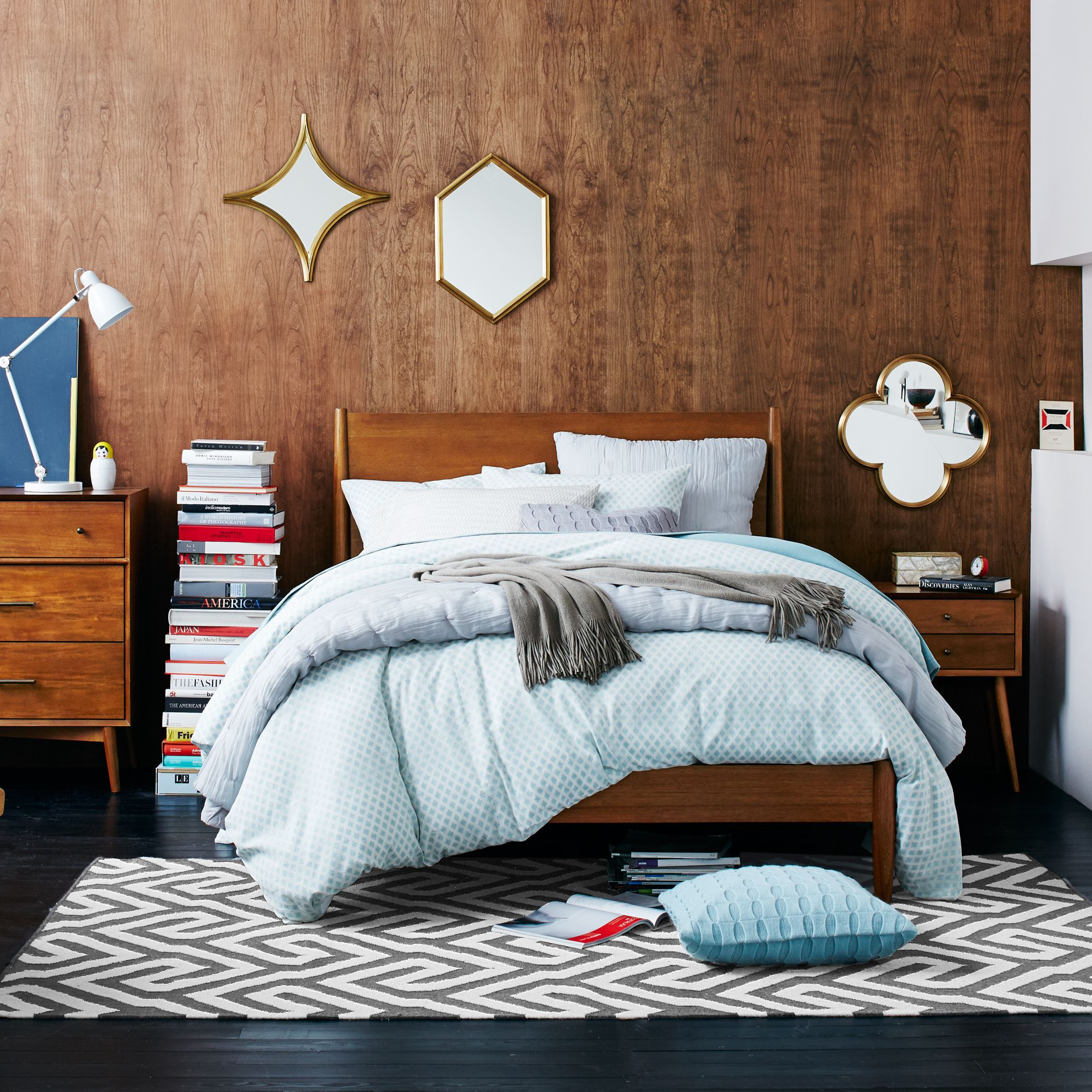 West Elm Mid Century Bed Frame King Size Fsc Certified Eucalyptus At John Lewis Partners