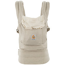 Buy Ergobaby Original Baby Carrier, Natural Linen Online at johnlewis.com