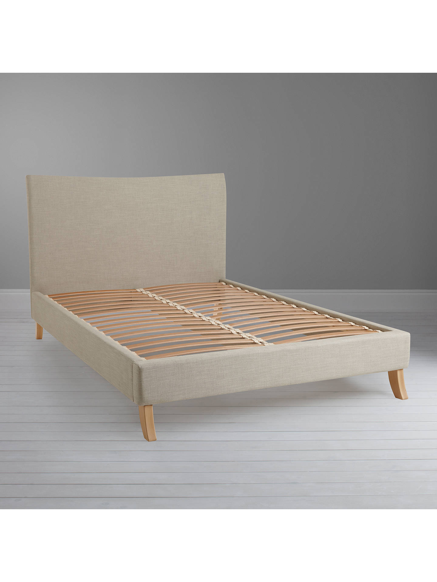 BuyJohn Lewis & Partners Lincoln Low End Bed Frame, King Size, Naomi Linen Online at johnlewis.com