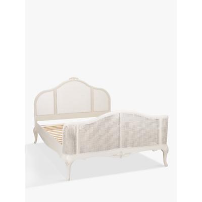 John Lewis Rose Mist Rattan Bed Frame, King Size