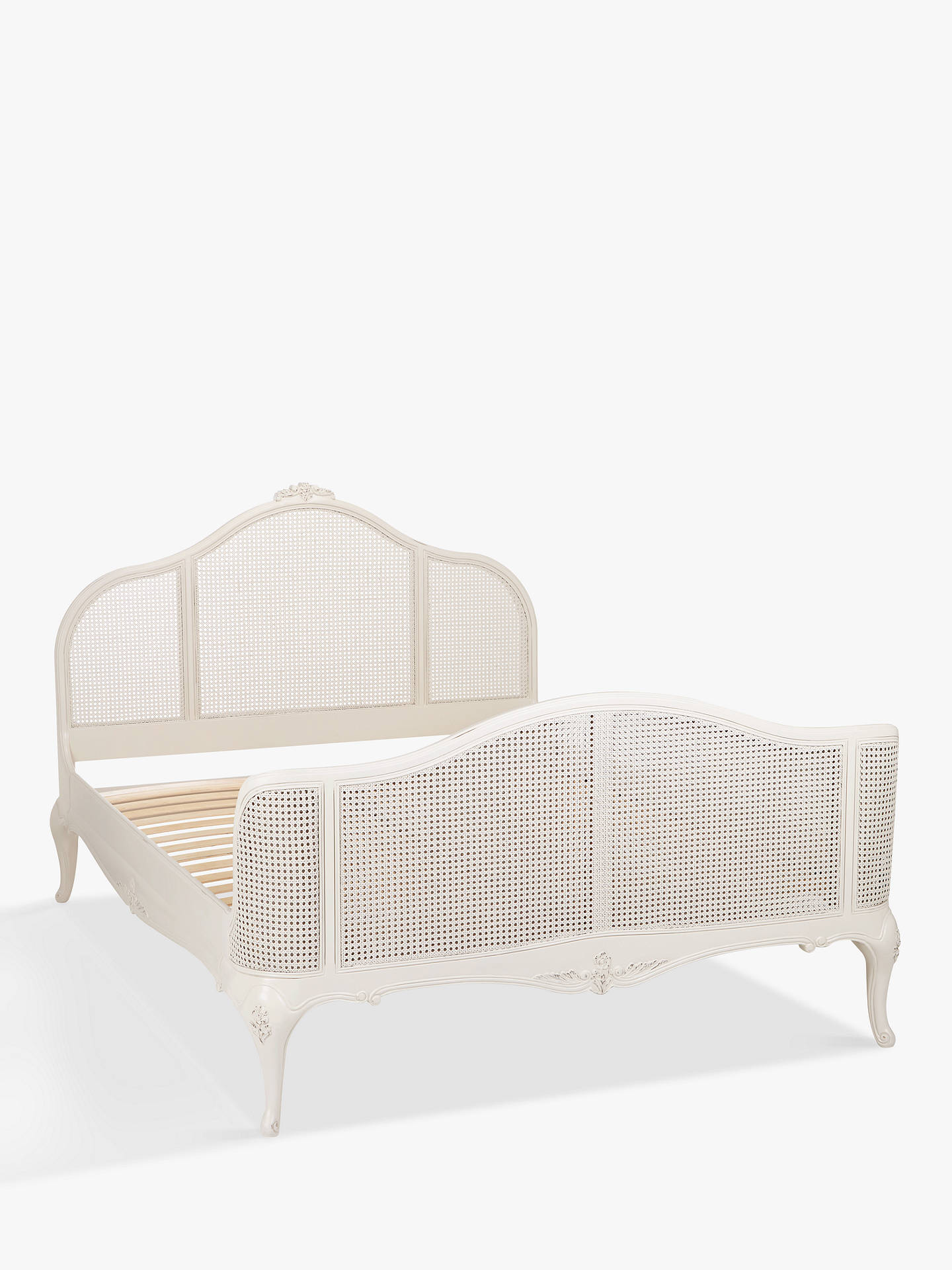 John Lewis Rose Mist Rattan Bed Frame King Size At