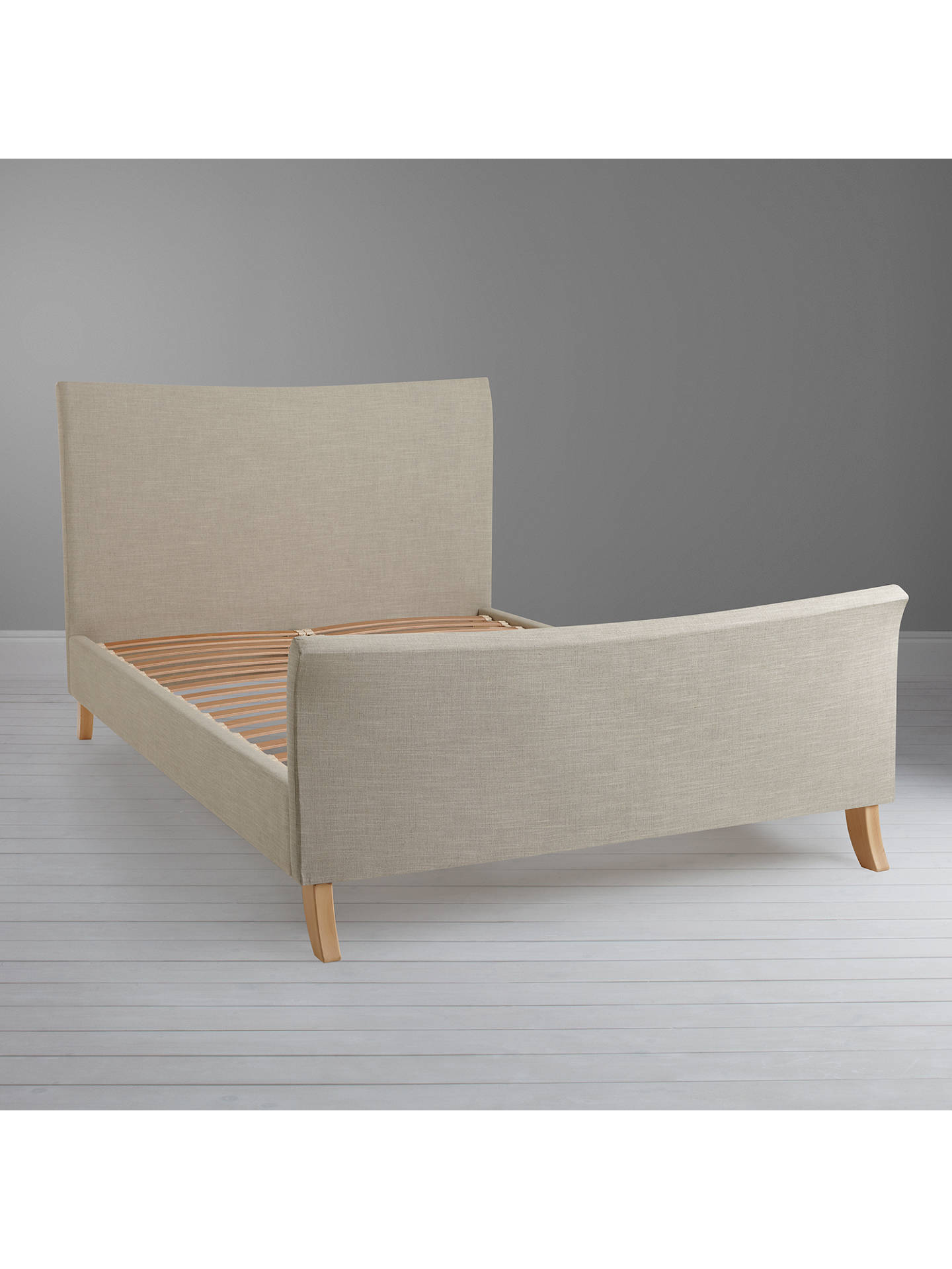 Buy John Lewis & Partners Lincoln High End Bed Frame, King Size, Naomi Linen Online at johnlewis.com