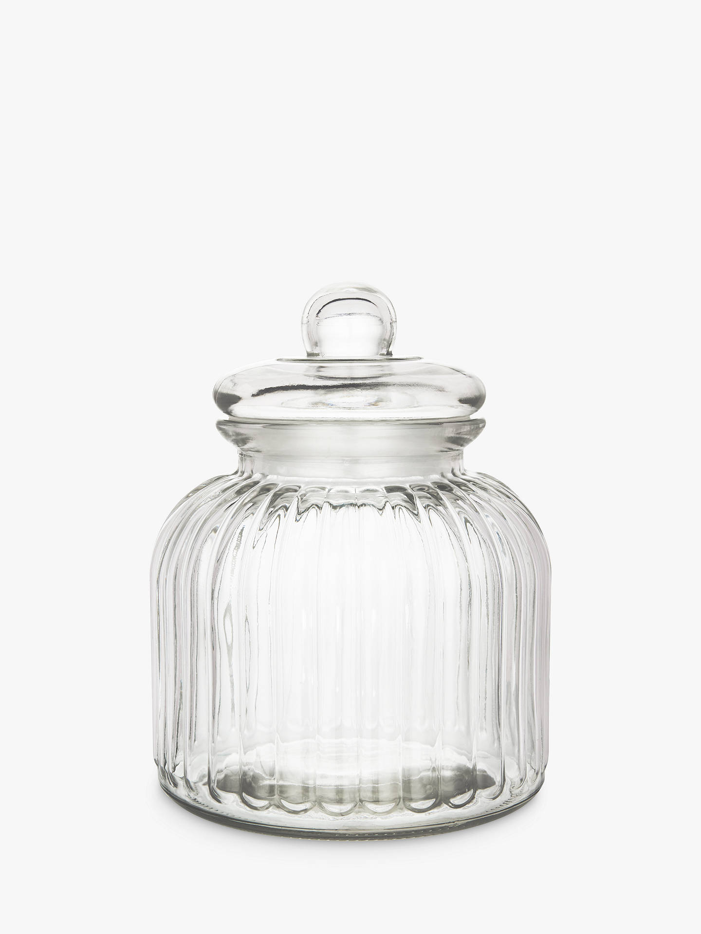 Buy John Lewis & Partners Ribbed Glass Jar, 3L Online at johnlewis.com
