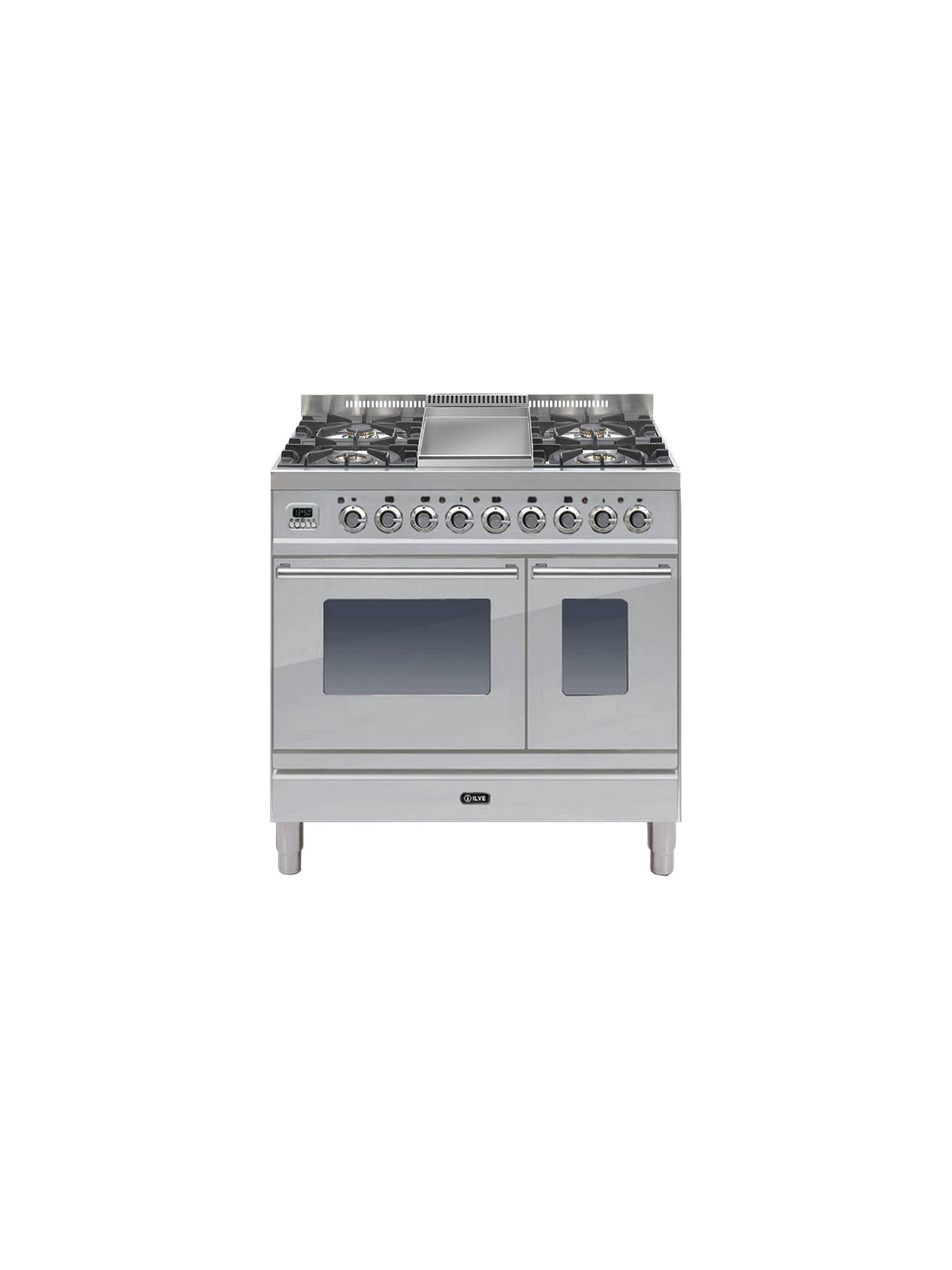 Buy ILVE Roma Dual Fuel Freestanding Range Cooker, Stainless Steel Online at johnlewis.com