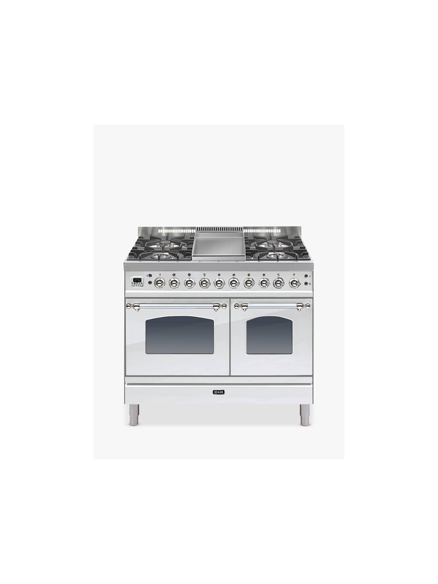 Buy ILVE PDN100FMP/IX Milano Freestanding Dual Fuel Range Cooker, Stainless Steel Online at johnlewis.com