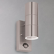 Buy John Lewis Sabrebeam 2 Light LED Outdoor Light with PIR, Steel Online at johnlewis.com