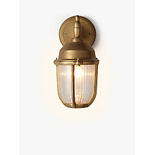 Buy Nordlux Outdoor Downlight Wall Light, Brass Online at johnlewis.com