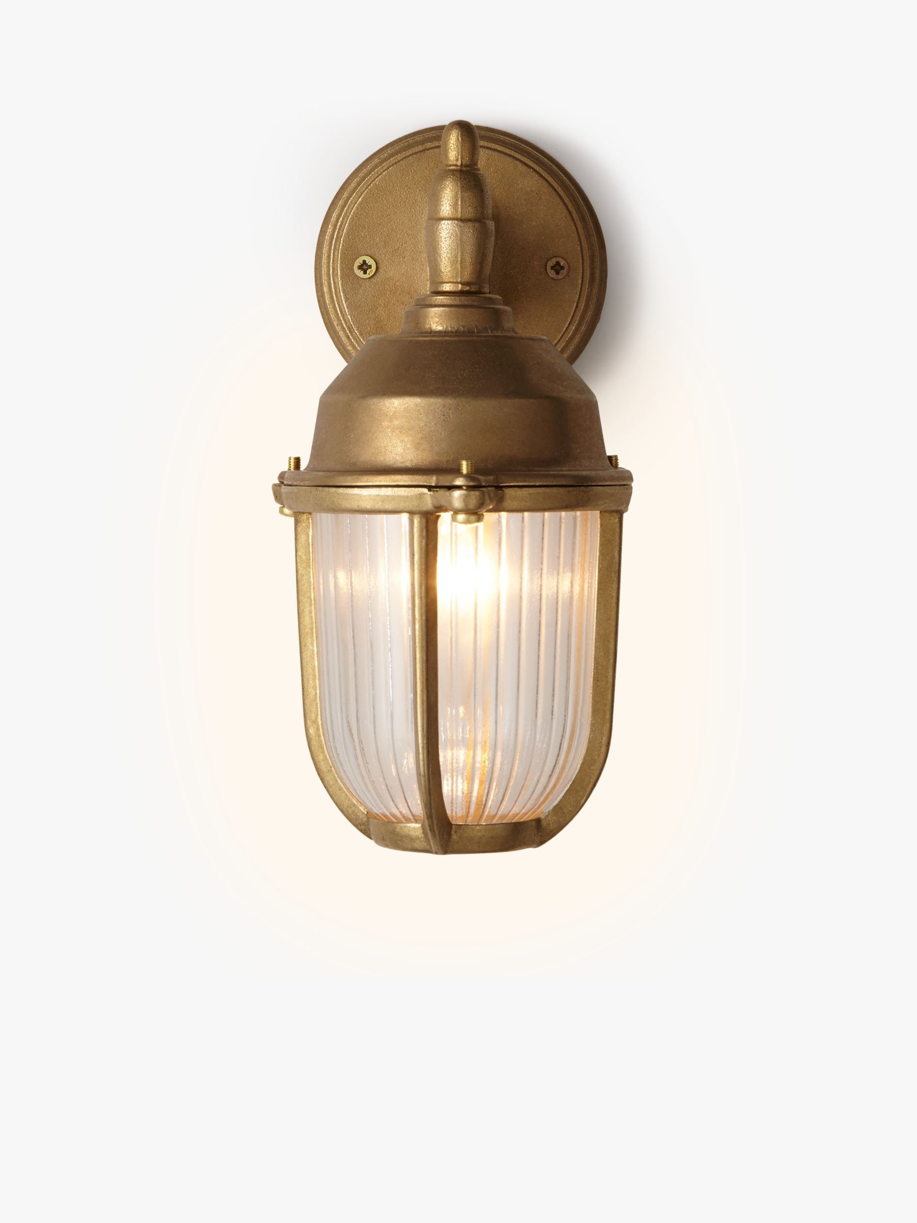 Black Up And Down Led Wall Lights : Buy Nordlux Outdoor Downlight Wall Light, Brass John Lewis