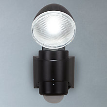Buy Saxby Laryn LED Battery Operated Outdoor Spotlight With PIR, Black Online at johnlewis.com