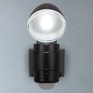 Security garden outdoor lighting john lewis saxby laryn led battery operated outdoor spotlight with pir black mozeypictures Gallery