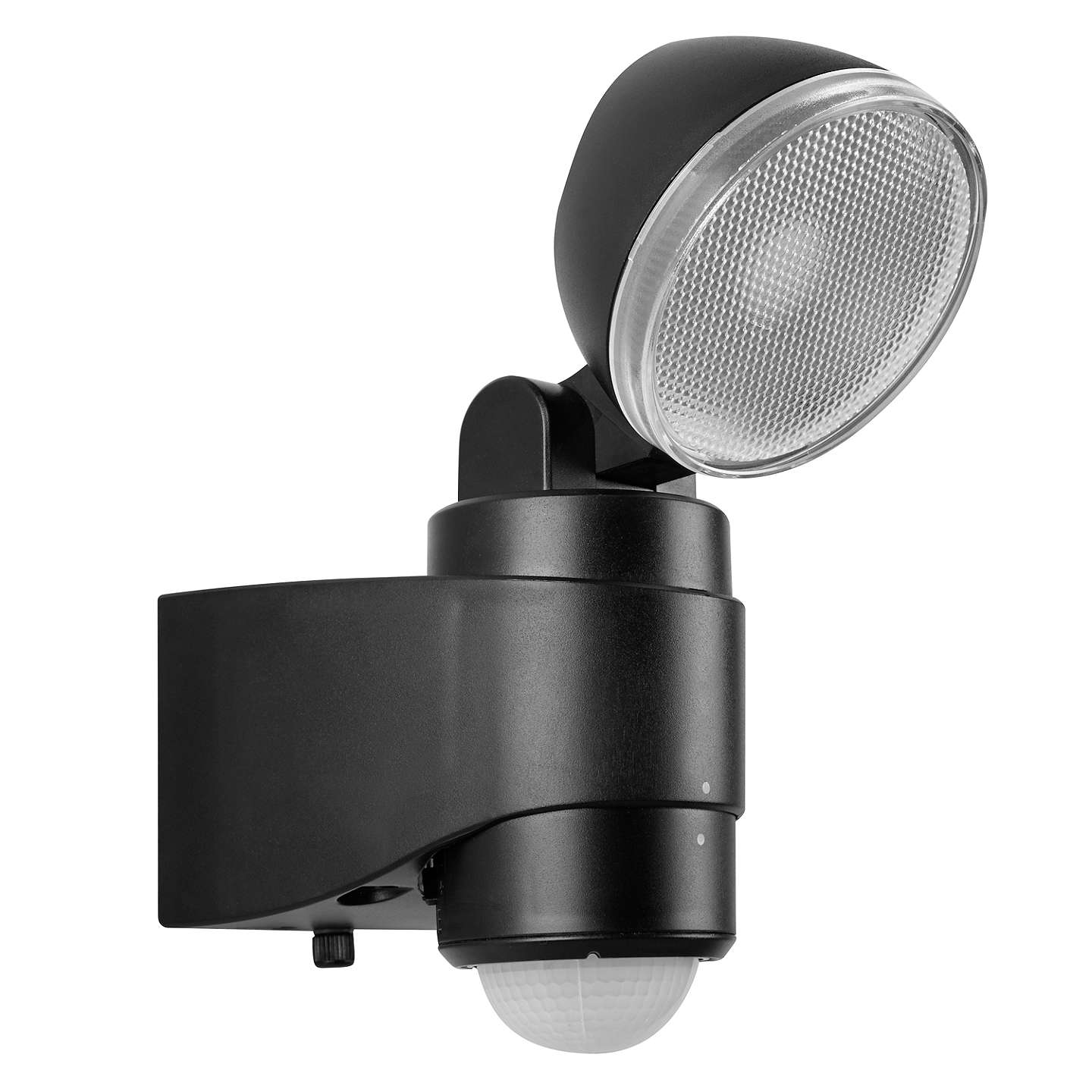 Saxby laryn led battery operated outdoor spotlight with pir black buysaxby laryn led battery operated outdoor spotlight with pir black online at johnlewis aloadofball Choice Image