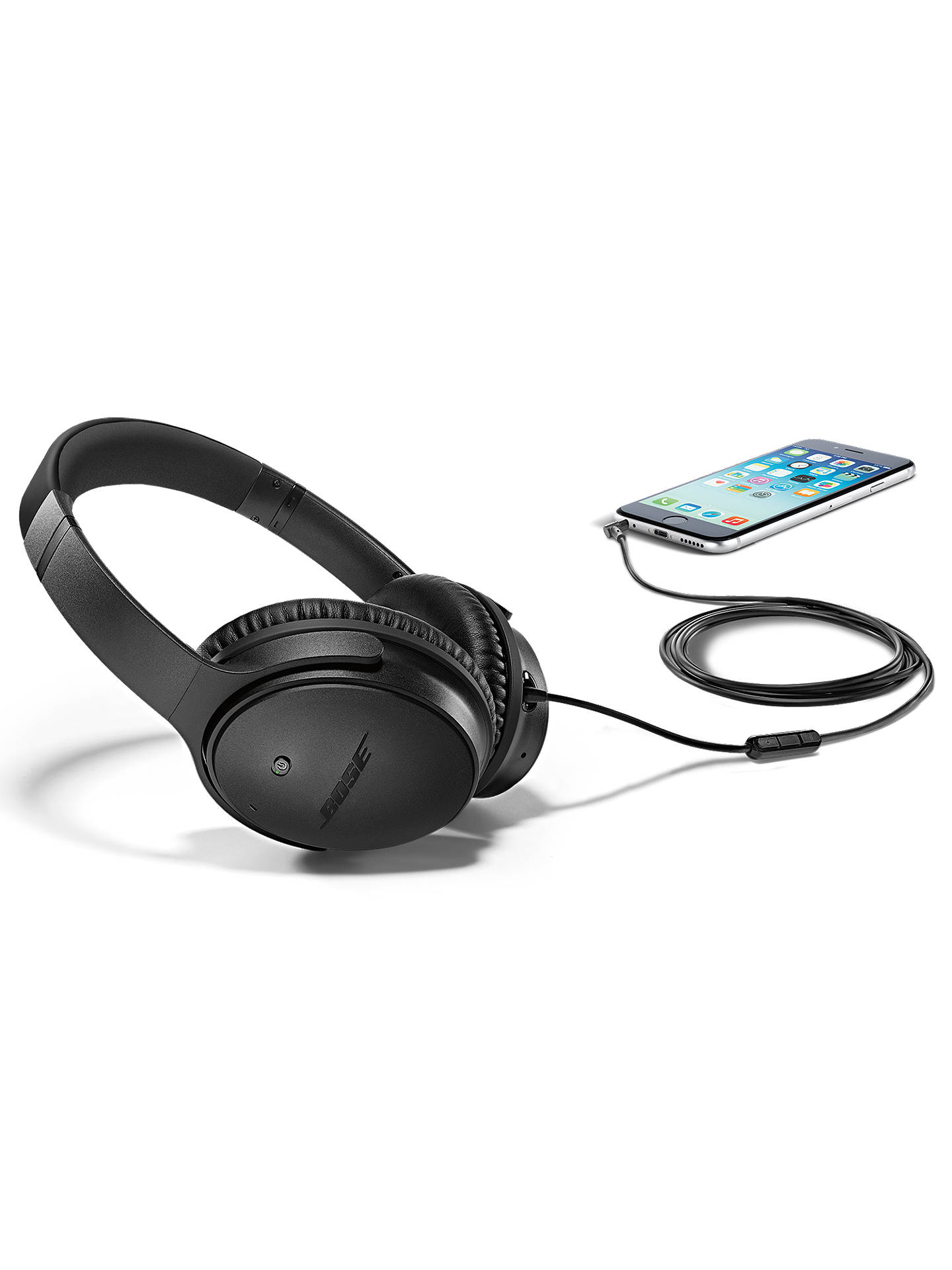 Bose Quietcomfort Noise Cancelling Qc25 Over Ear Headphones For Headphone Apple Devices White Buybose Ios