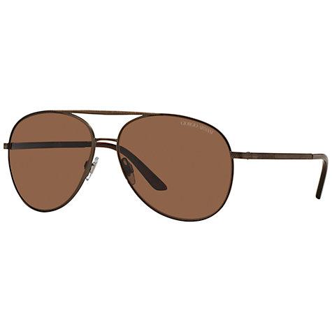 buy aviator sunglasses  Buy Giorgio Armani AR6030 Aviator Sunglasses, Brown