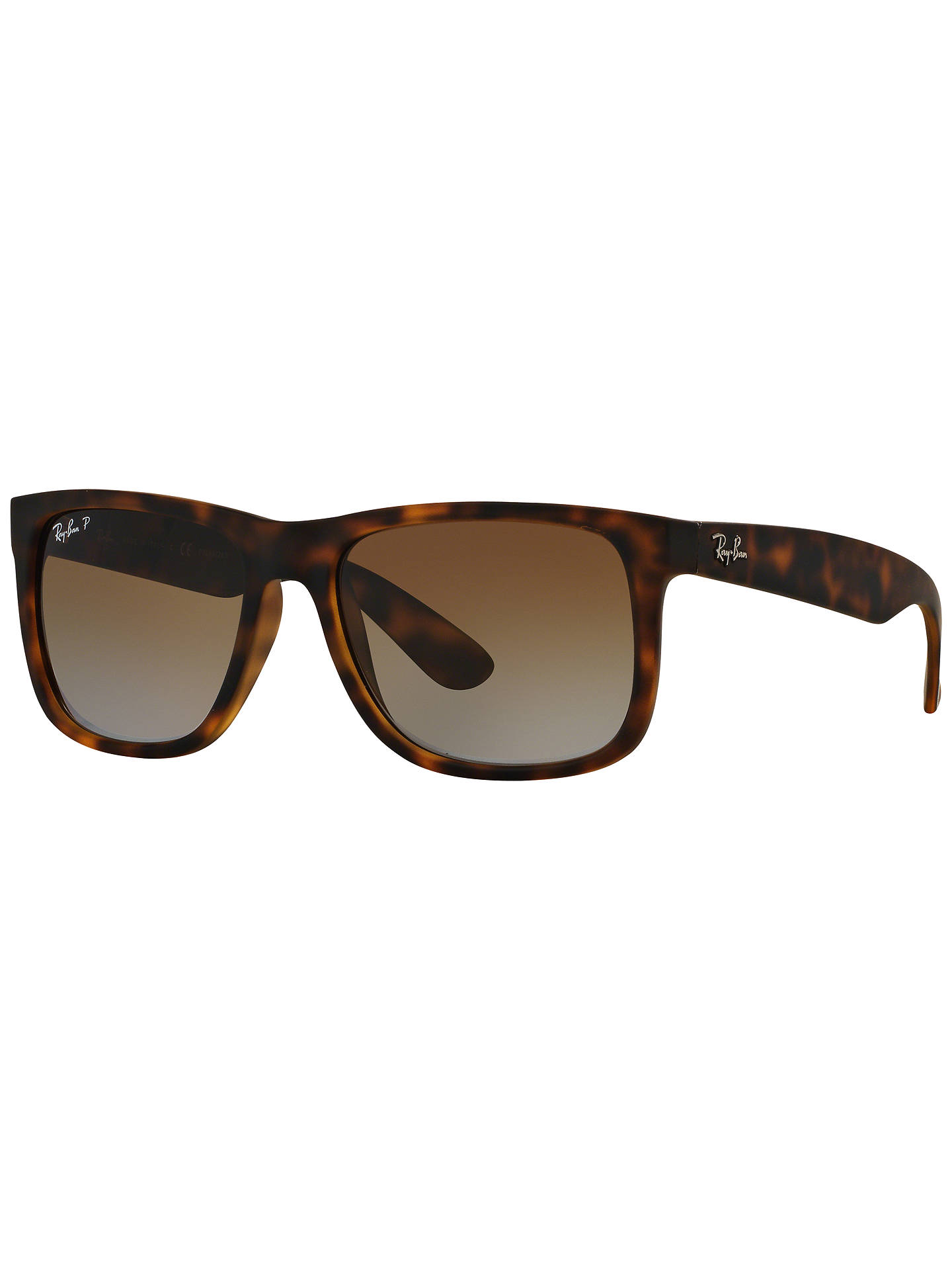 BuyRay-Ban RB4165 Justin Polarised Wayfarer Sunglasses, Brown Online at  johnlewis.com ... b705fc98c2
