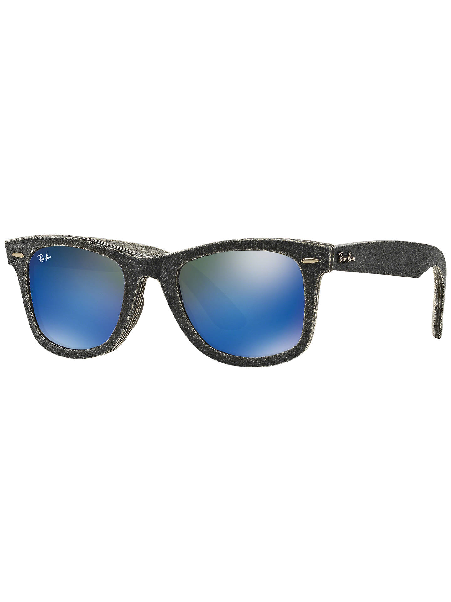 0d0373baf3 Ray-Ban RB2140 Original Wayfarer Denim Sunglasses at John Lewis ...