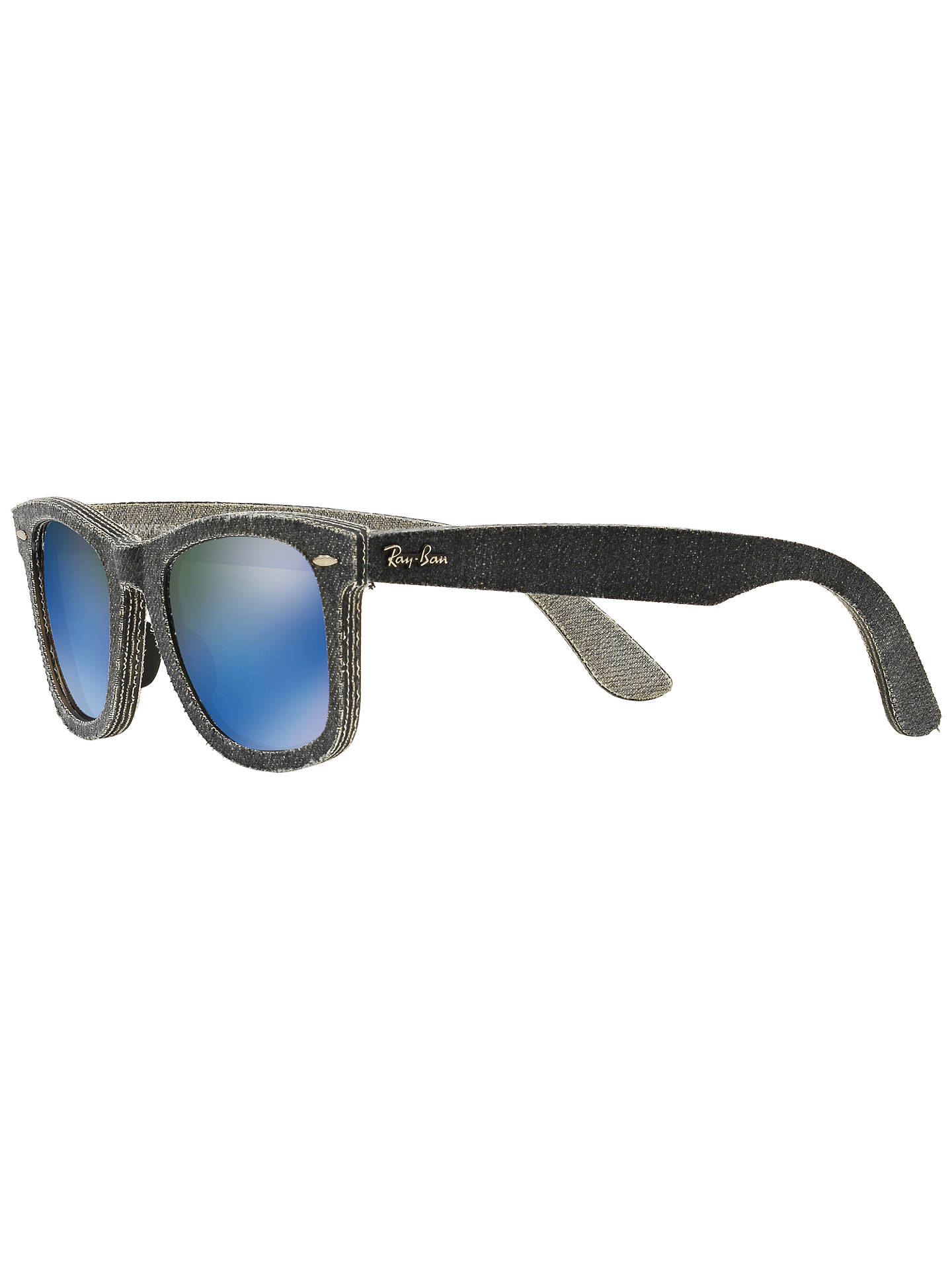 b3770e9ea9 Ray-Ban RB2140 Original Wayfarer Denim Sunglasses at John Lewis ...