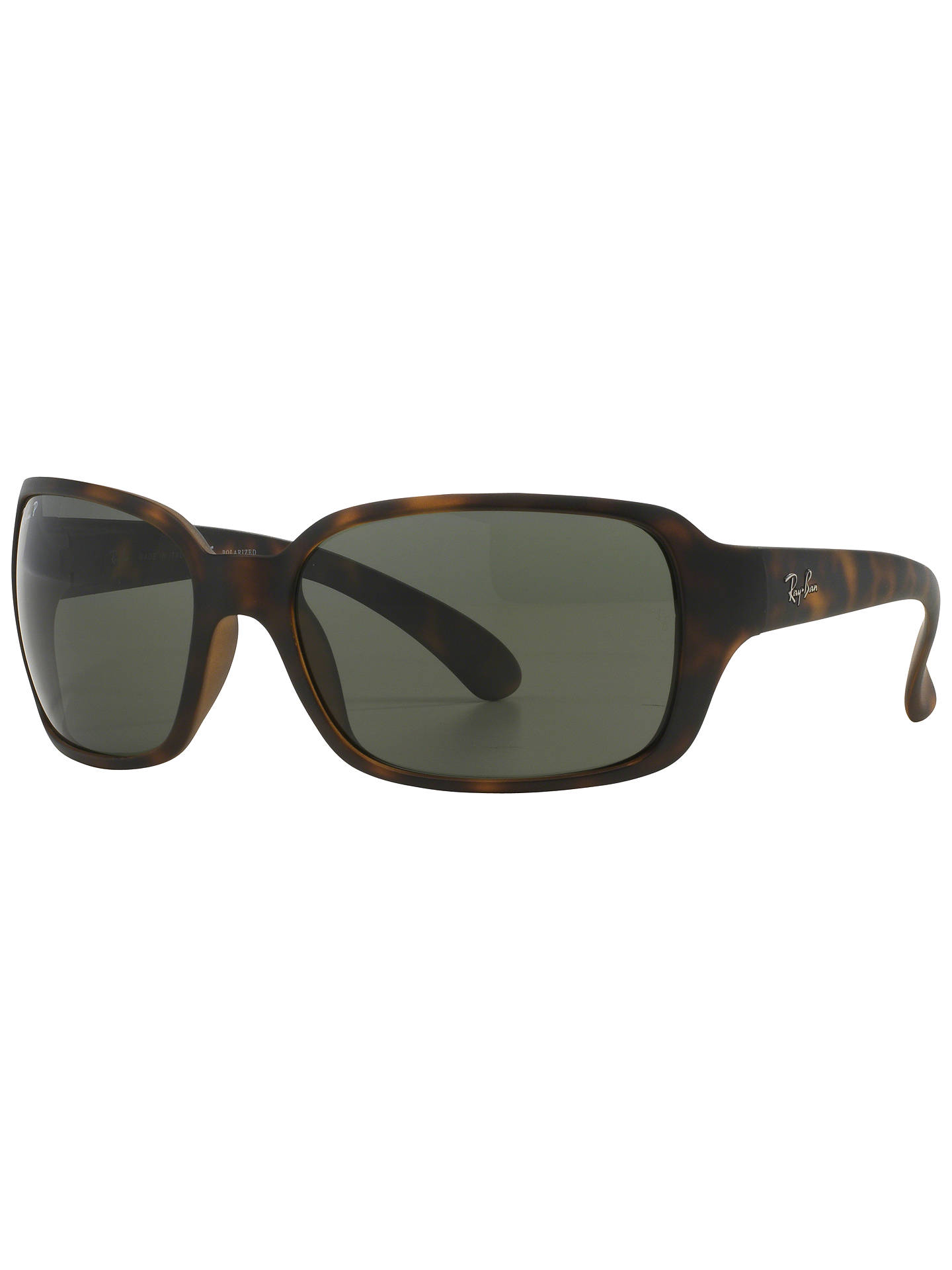 58d43fc235 Ray-Ban RB4068 Polarised Rectangular Sunglasses at John Lewis   Partners