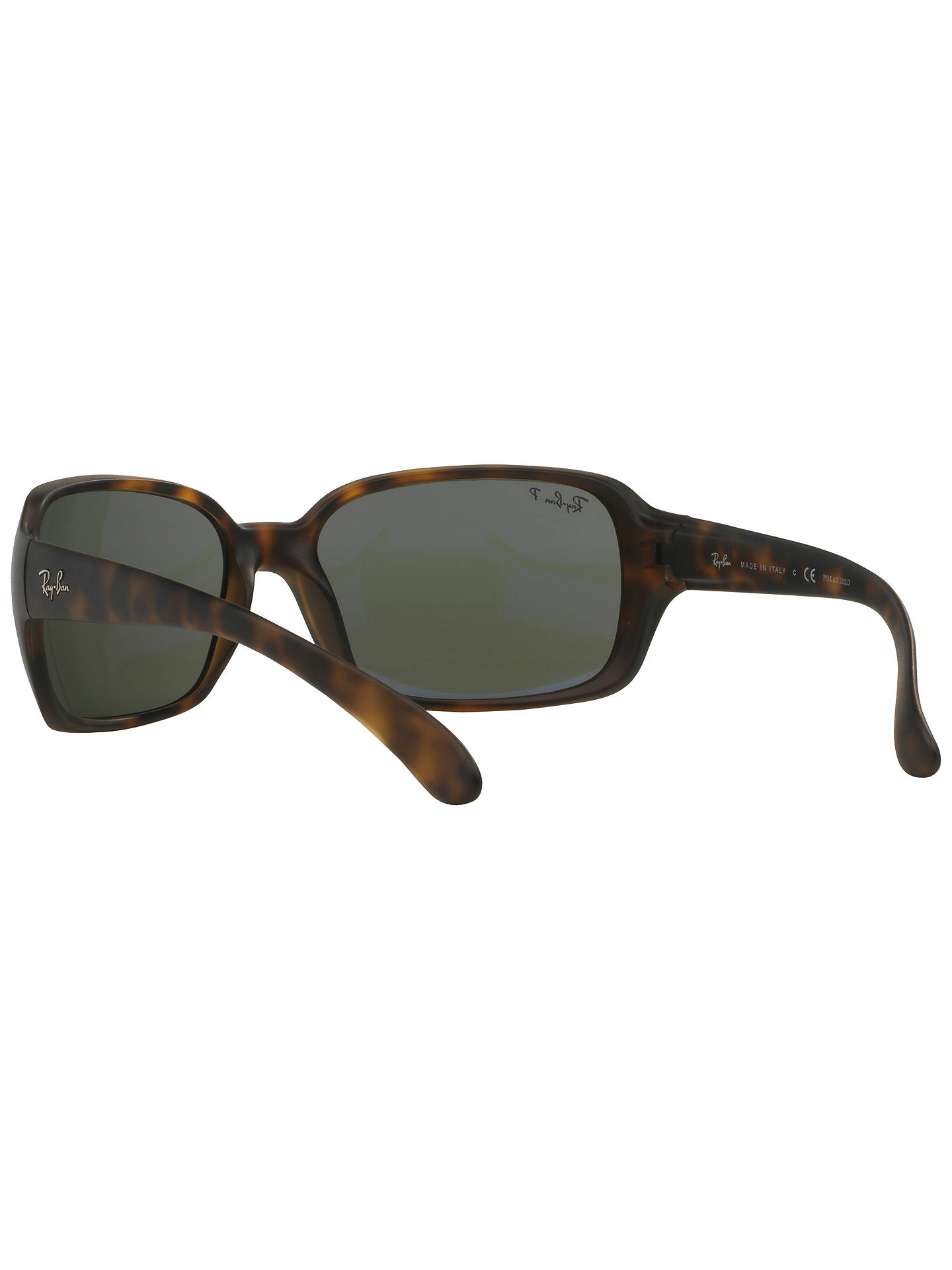 58d43fc235 Ray-Ban RB4068 Polarised Rectangular Sunglasses at John Lewis   Partners