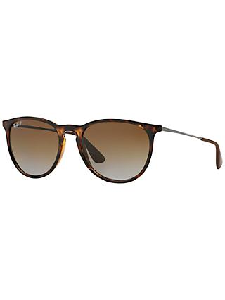 Ray-Ban RB4171 Women's Erika Polarised Oval Sunglasses