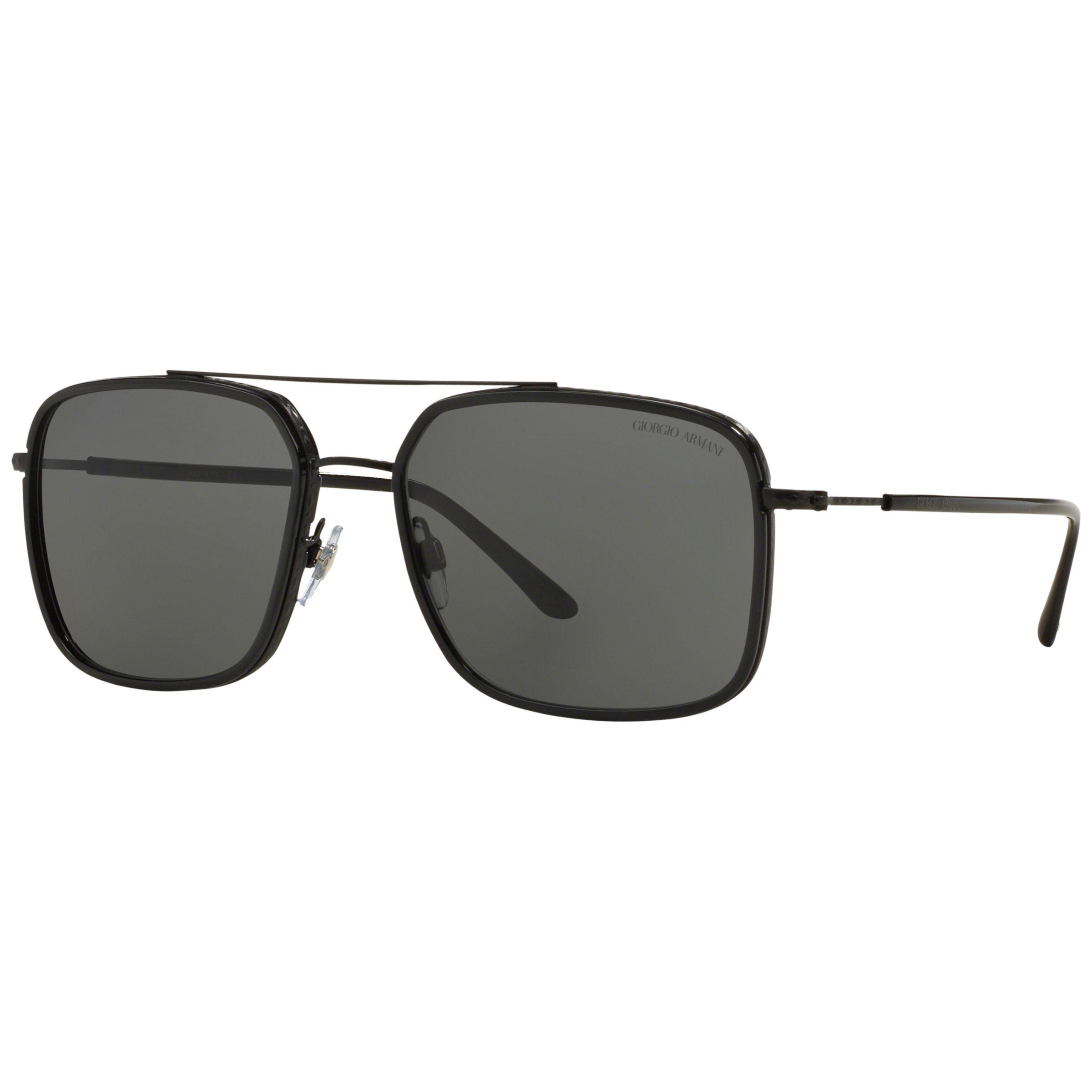 Giorgio Armani Giorgio Armani AR6031 Square Sunglasses, Black
