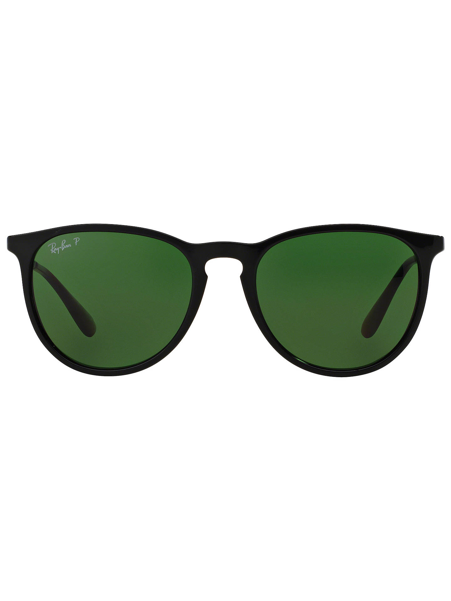 99d79beda9 ... Buy Ray-Ban RB4171 Women's Erika Polarised Oval Sunglasses, Black/Green  Online at ...